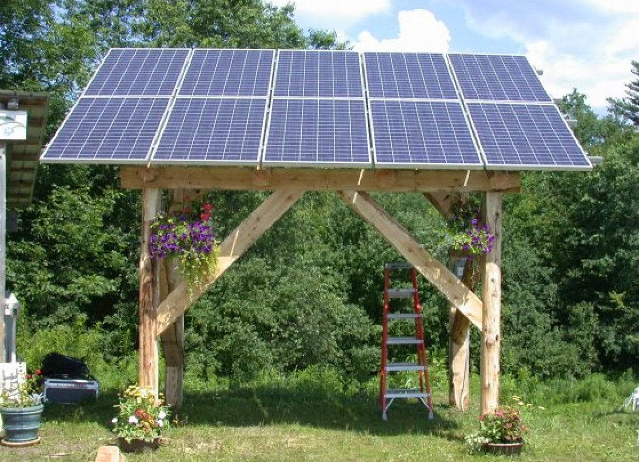 Local Cedar Solar Gazebo Foxfire Energy